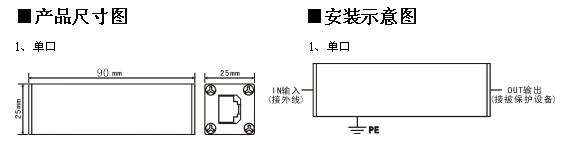 产品安装: 集成多级电涌保护,可用于雷击区域LPZ1- LPZ2分区界面,带有安装附件电缆,可方便地串联接入线路当中,安装时注意线缆进出方向,有IN和OUT标志。IN始终为非保护侧,并指示过电压可能产生的方向、保护侧OUT指向被保护区域或设备,通过接地导线进行等电位连接,安装时应尽量靠近被保护设备,并用最短接地路径。接地路径应尽可能短,长度不要超过1.